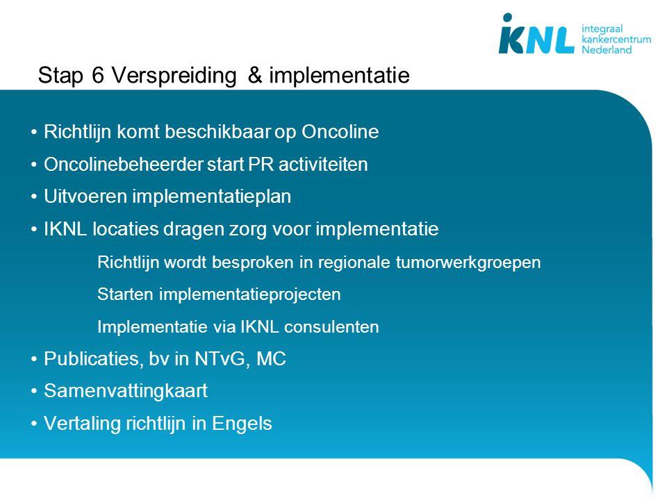Stap 6 Verspreiding & implementatie