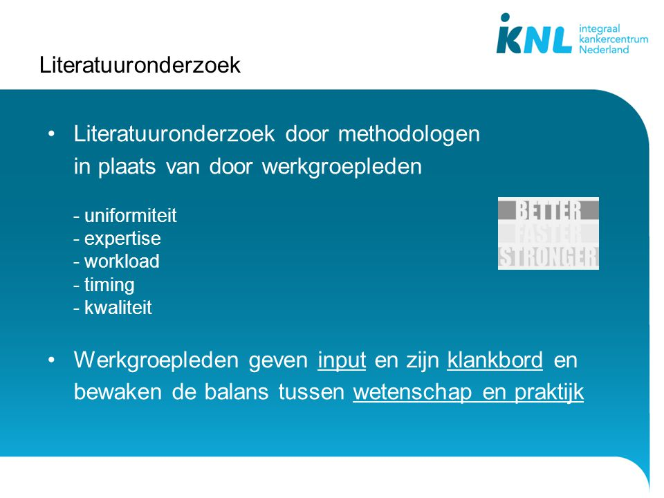 Literatuuronderzoek door methodologen