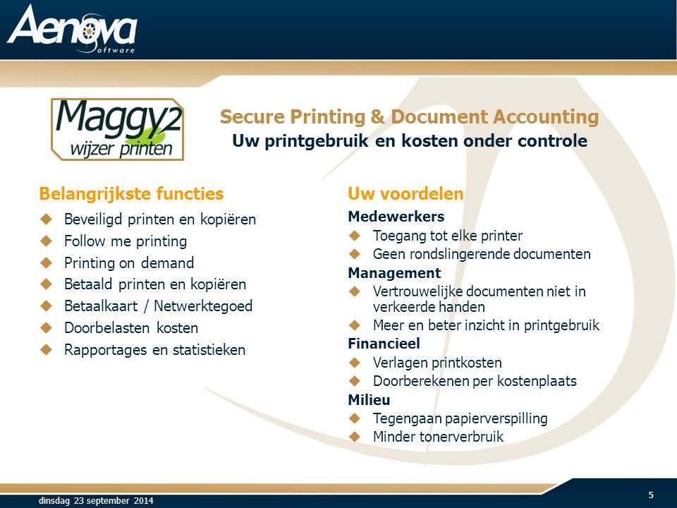 Secure Printing & Document Accounting