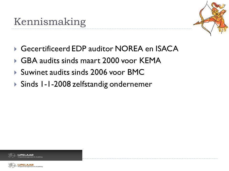 Kennismaking Gecertificeerd EDP auditor NOREA en ISACA