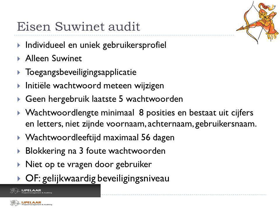 Eisen Suwinet audit OF: gelijkwaardig beveiligingsniveau