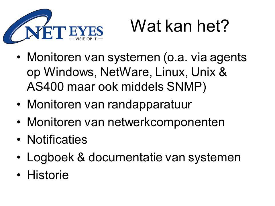 Wat kan het Monitoren van systemen (o.a. via agents op Windows, NetWare, Linux, Unix & AS400 maar ook middels SNMP)