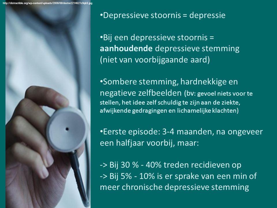 Depressieve stoornis = depressie