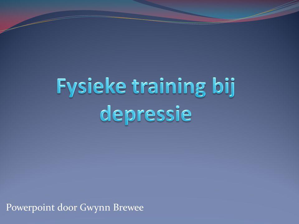 Fysieke training bij depressie