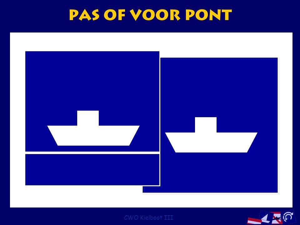 Pas of voor pont CWO Kielboot III