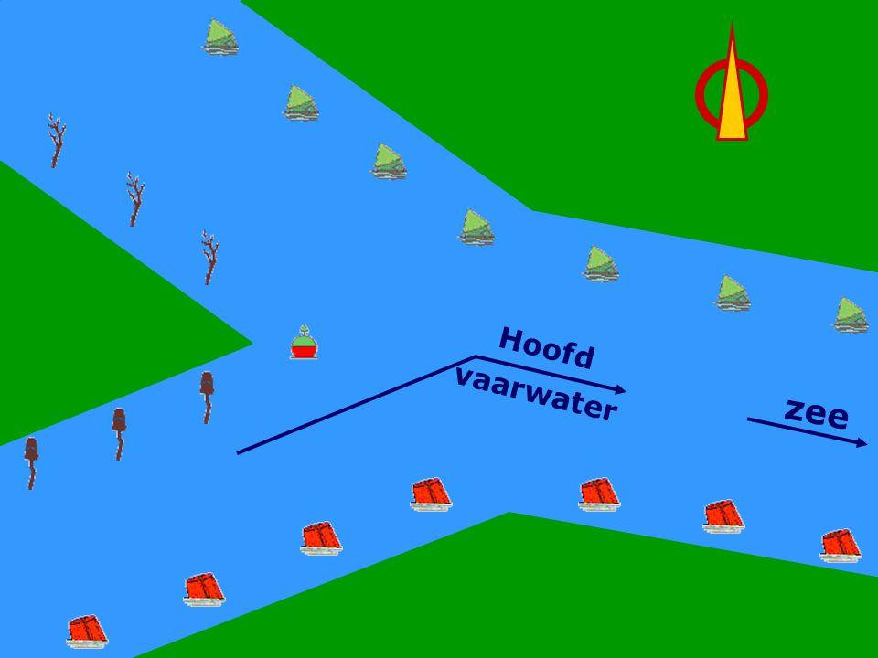 Hoofdwater Links zee Hoofd vaarwater CWO Kielboot III