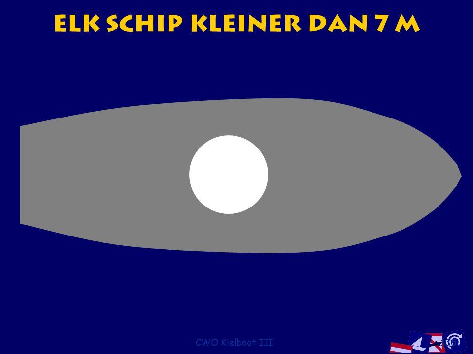 Elk schip kleiner dan 7 m CWO Kielboot III