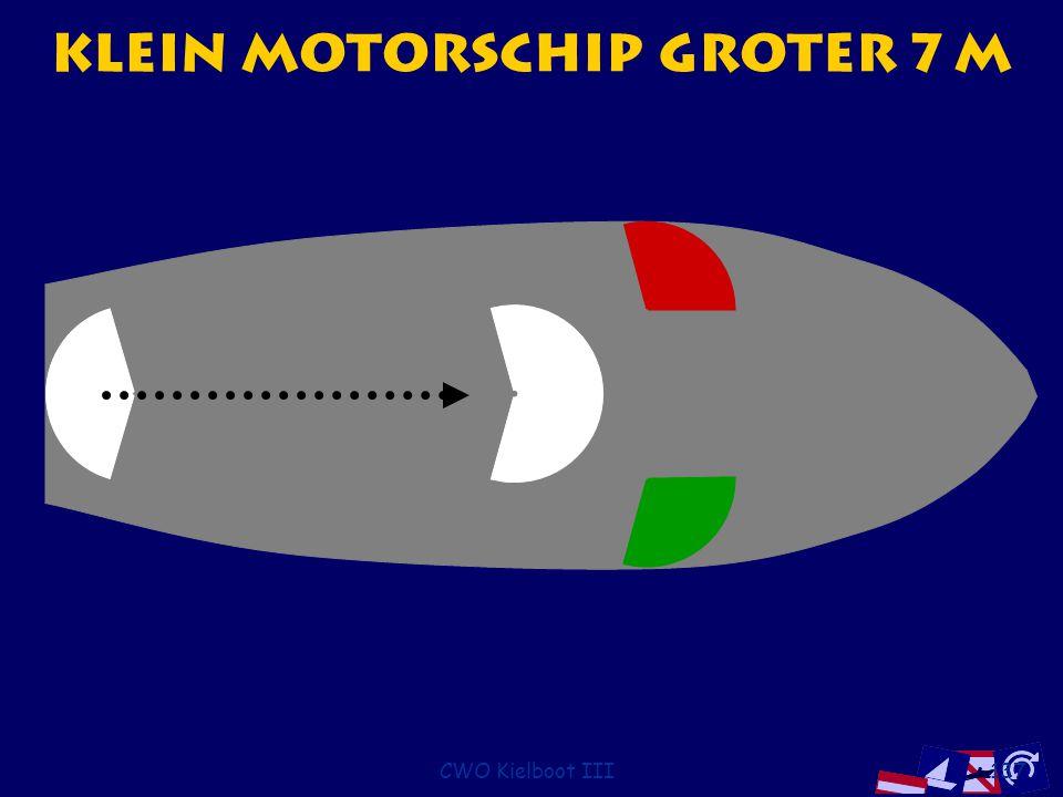 Klein motorschip groter 7 m