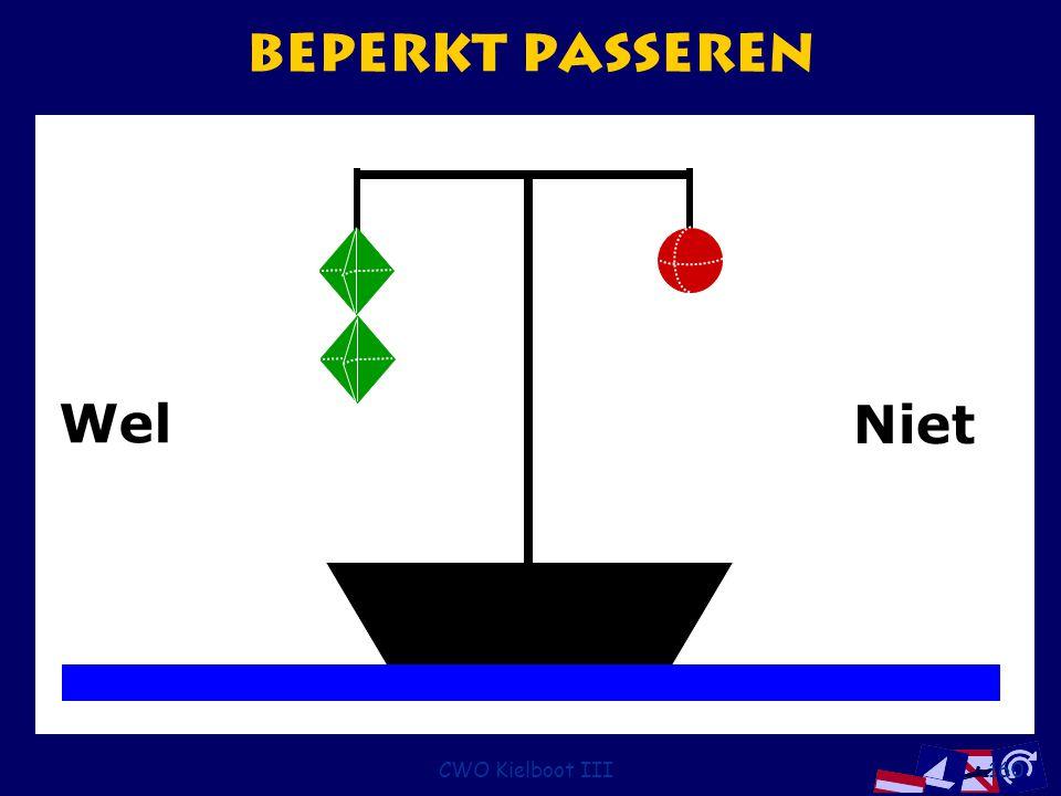 Beperkt passeren Wel Niet CWO Kielboot III