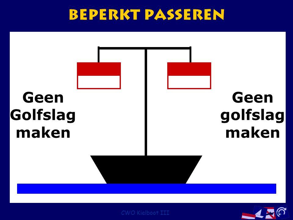 Beperkt passeren Geen golfslag maken Golfslag CWO Kielboot III