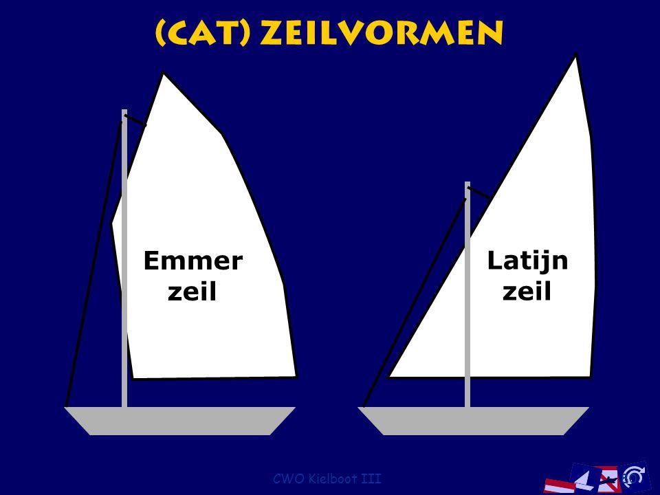 (Cat) Zeilvormen Latijn zeil Emmer zeil CWO Kielboot III