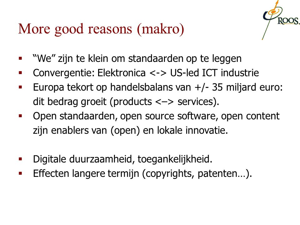More good reasons (makro)