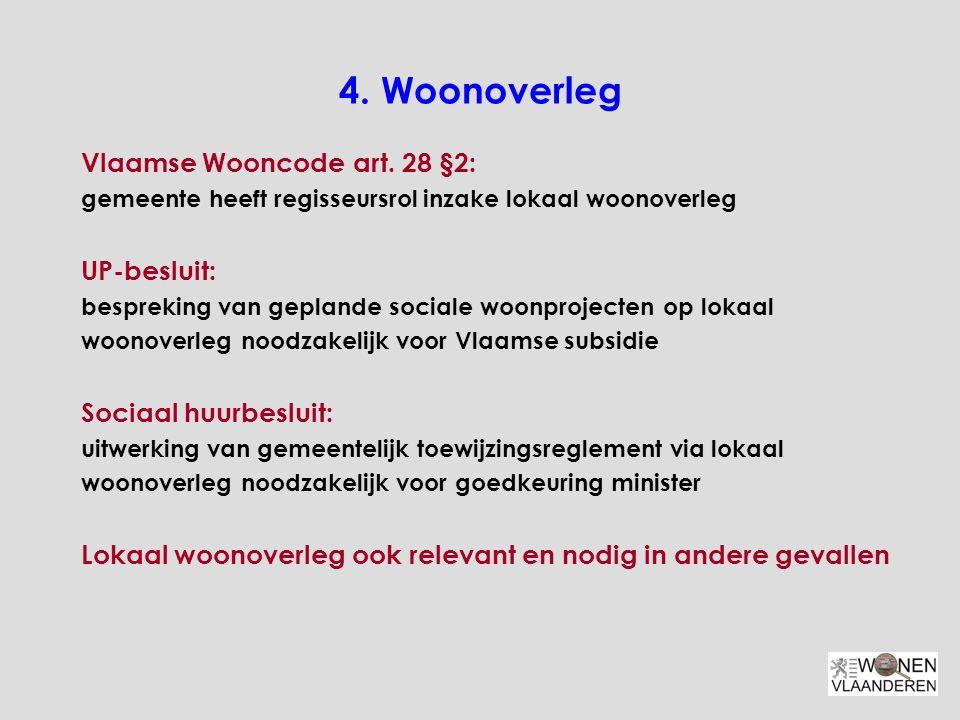 4. Woonoverleg Vlaamse Wooncode art. 28 §2: UP-besluit: