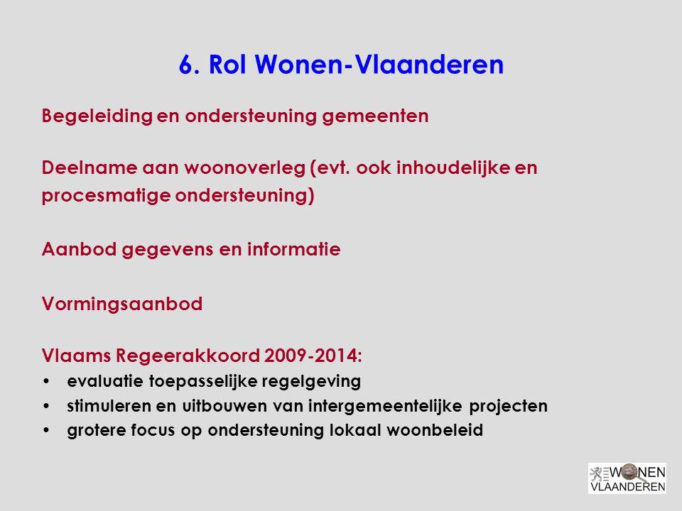 6. Rol Wonen-Vlaanderen Begeleiding en ondersteuning gemeenten