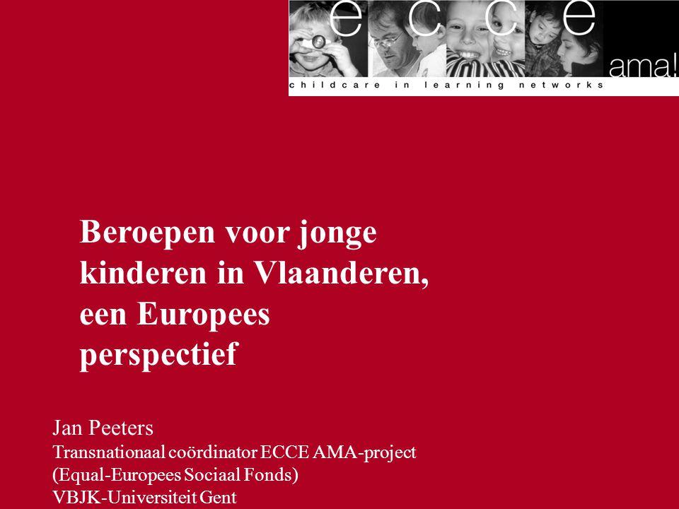 Beroepen voor jonge kinderen in Vlaanderen, een Europees perspectief