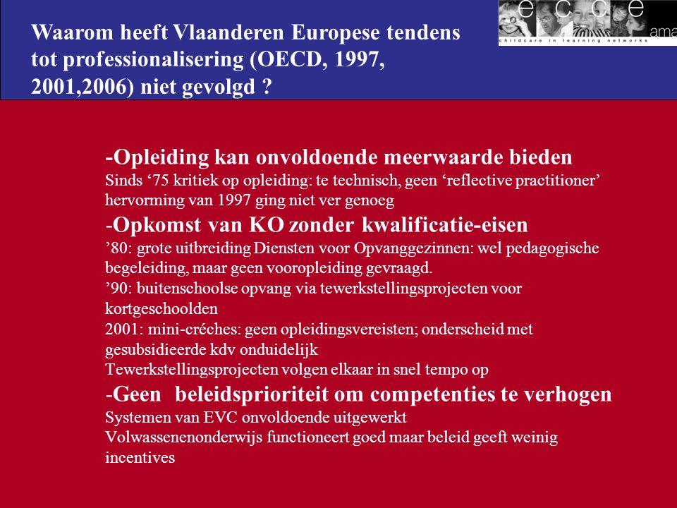 Waarom heeft Vlaanderen Europese tendens tot professionalisering (OECD, 1997, 2001,2006) niet gevolgd