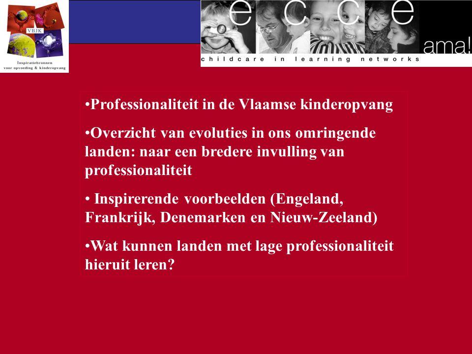 Professionaliteit in de Vlaamse kinderopvang