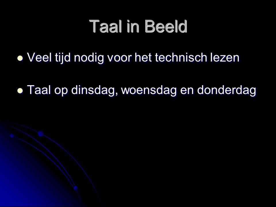 Taal in Beeld Veel tijd nodig voor het technisch lezen