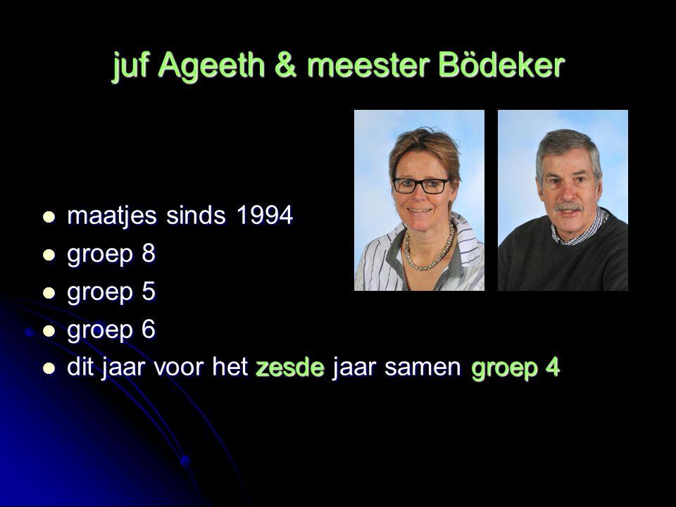 juf Ageeth & meester Bödeker