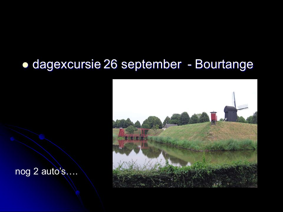 dagexcursie 26 september - Bourtange