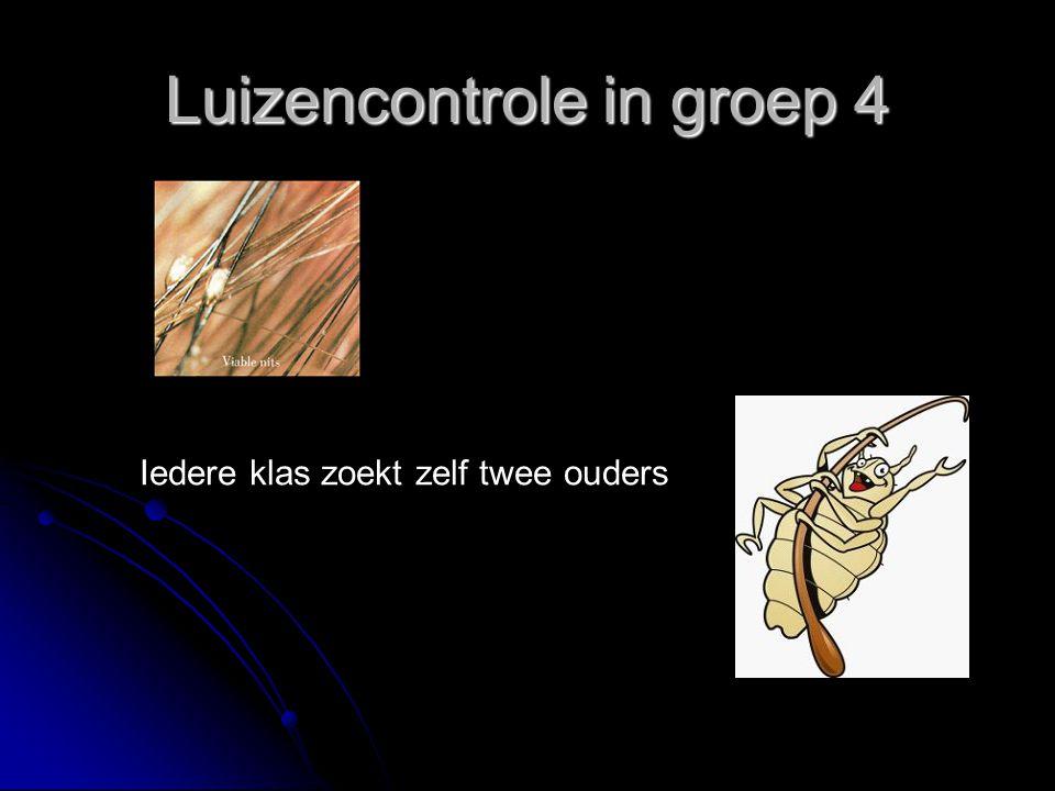 Luizencontrole in groep 4