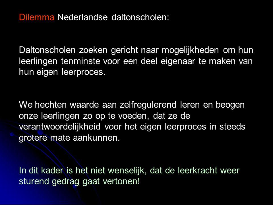 Dilemma Nederlandse daltonscholen: