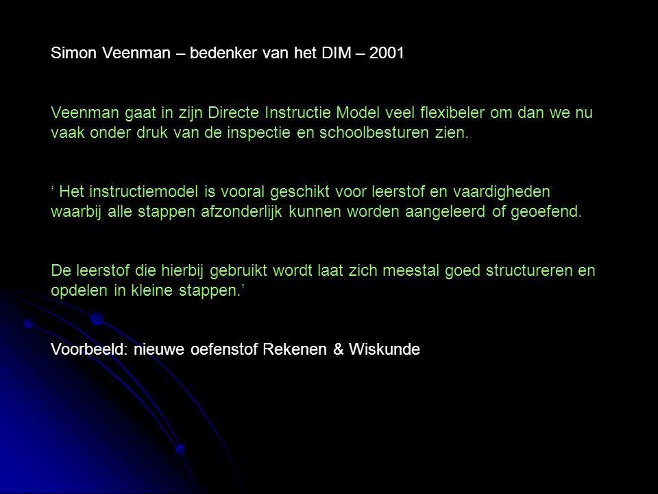 Simon Veenman – bedenker van het DIM – 2001