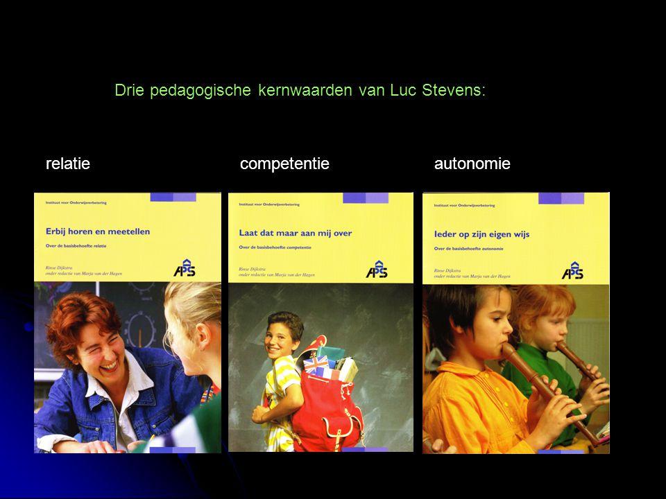Drie pedagogische kernwaarden van Luc Stevens: