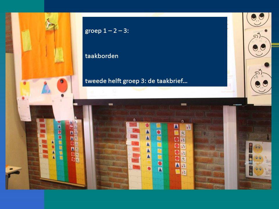 groep 1 – 2 – 3: taakborden tweede helft groep 3: de taakbrief…