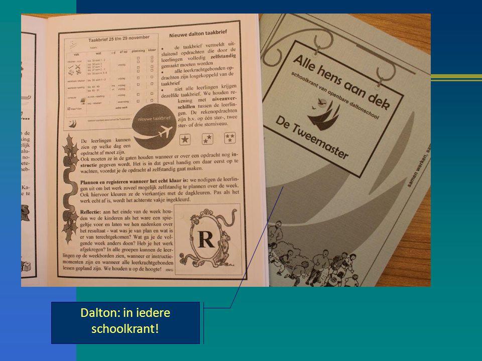 Dalton: in iedere schoolkrant!