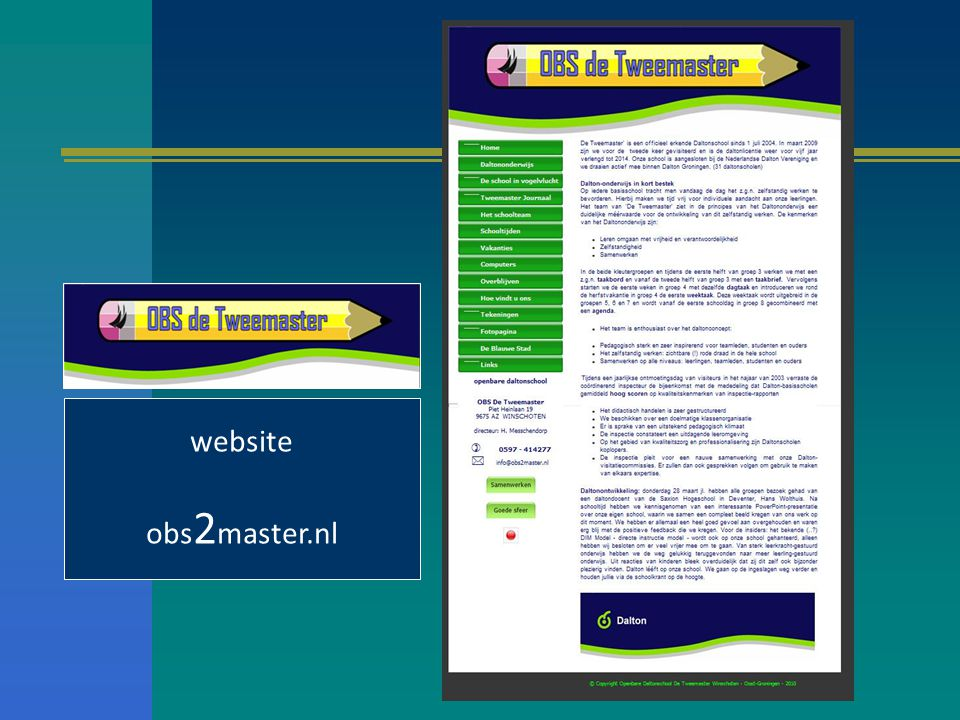 website obs2master.nl