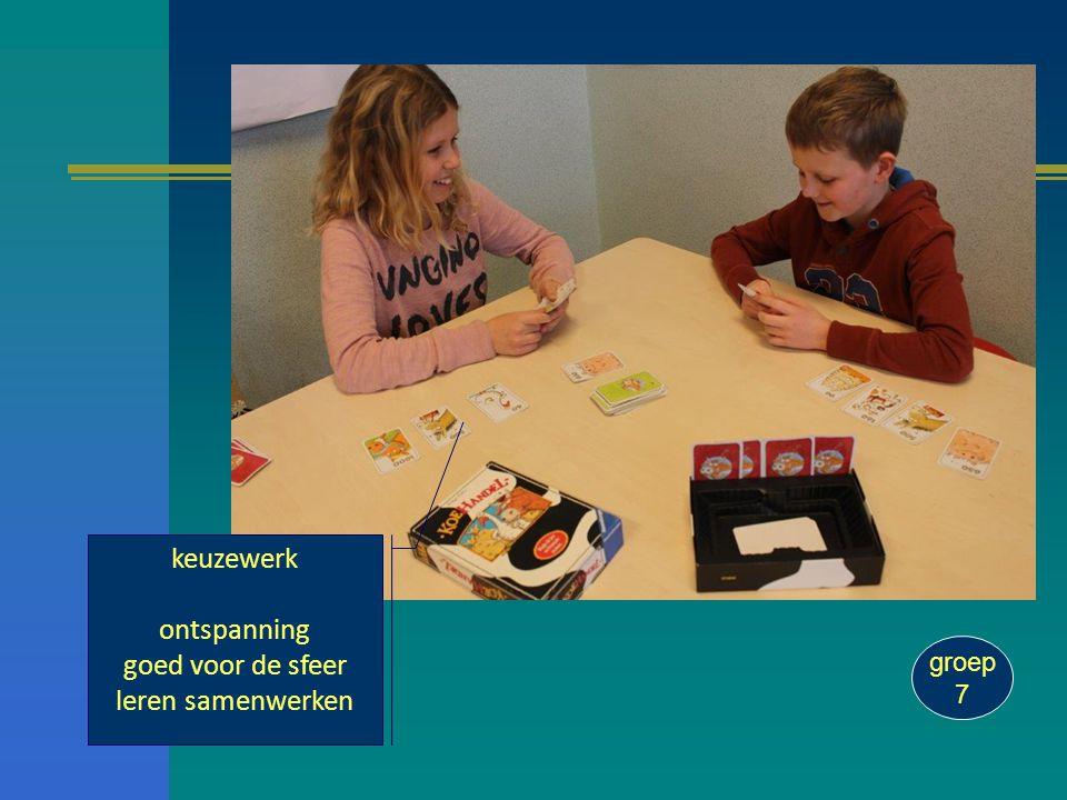 keuzewerk ontspanning goed voor de sfeer leren samenwerken groep 7