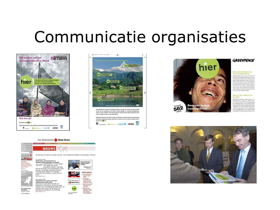 Communicatie organisaties