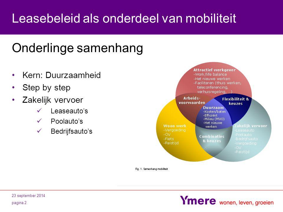 Leasebeleid als onderdeel van mobiliteit
