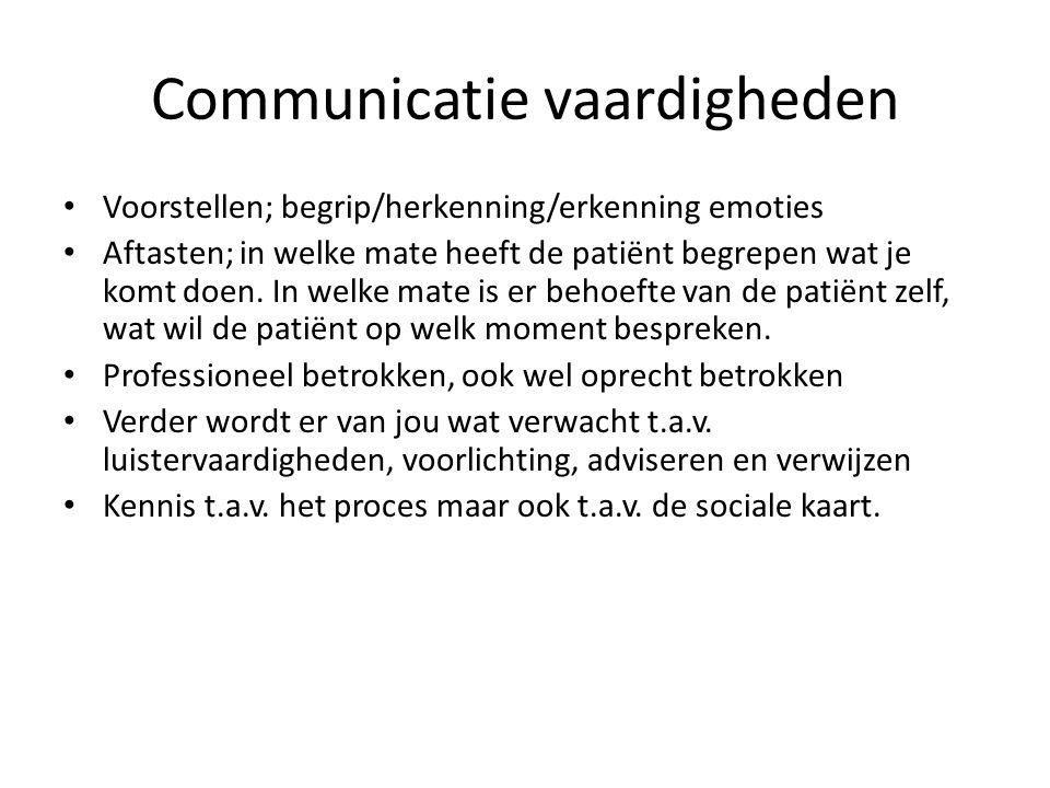 Communicatie vaardigheden