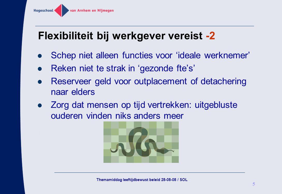 Flexibiliteit bij werkgever vereist -2