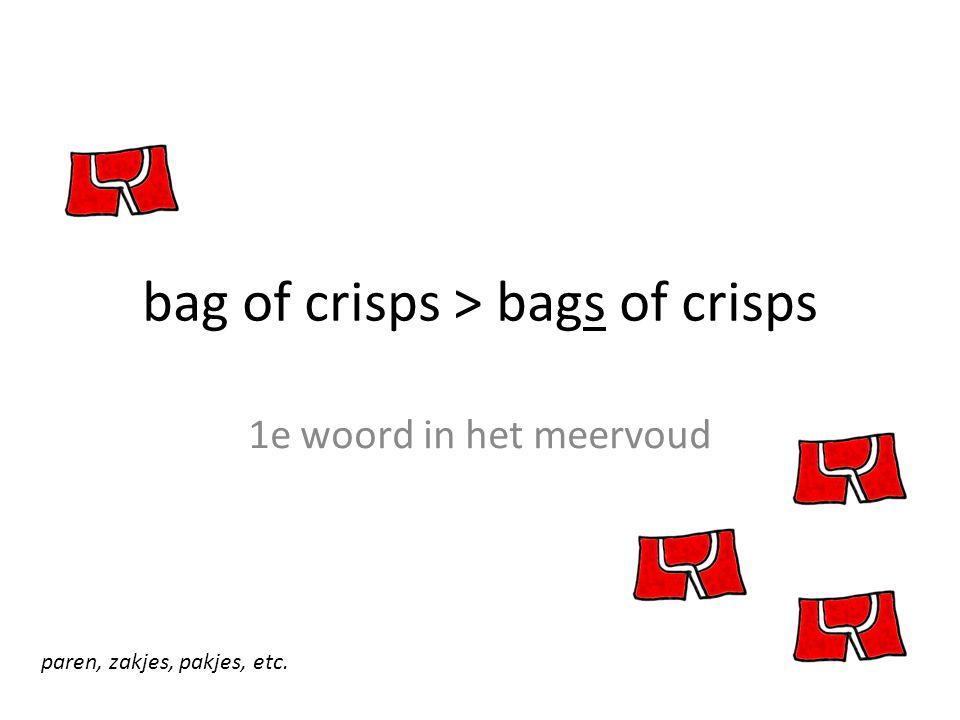 bag of crisps > bags of crisps