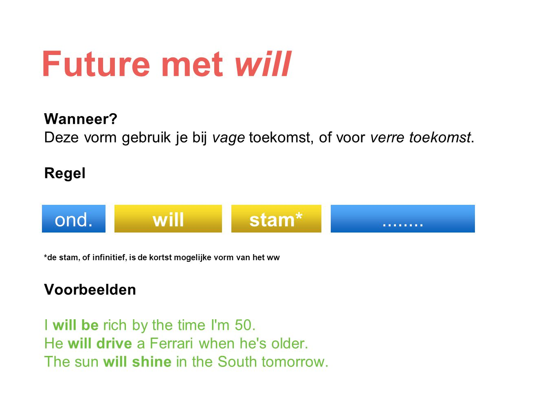 Future met will ond. will stam* ........