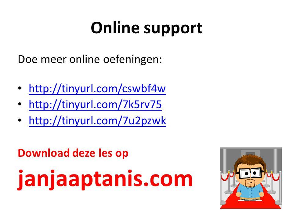 janjaaptanis.com Online support Doe meer online oefeningen: