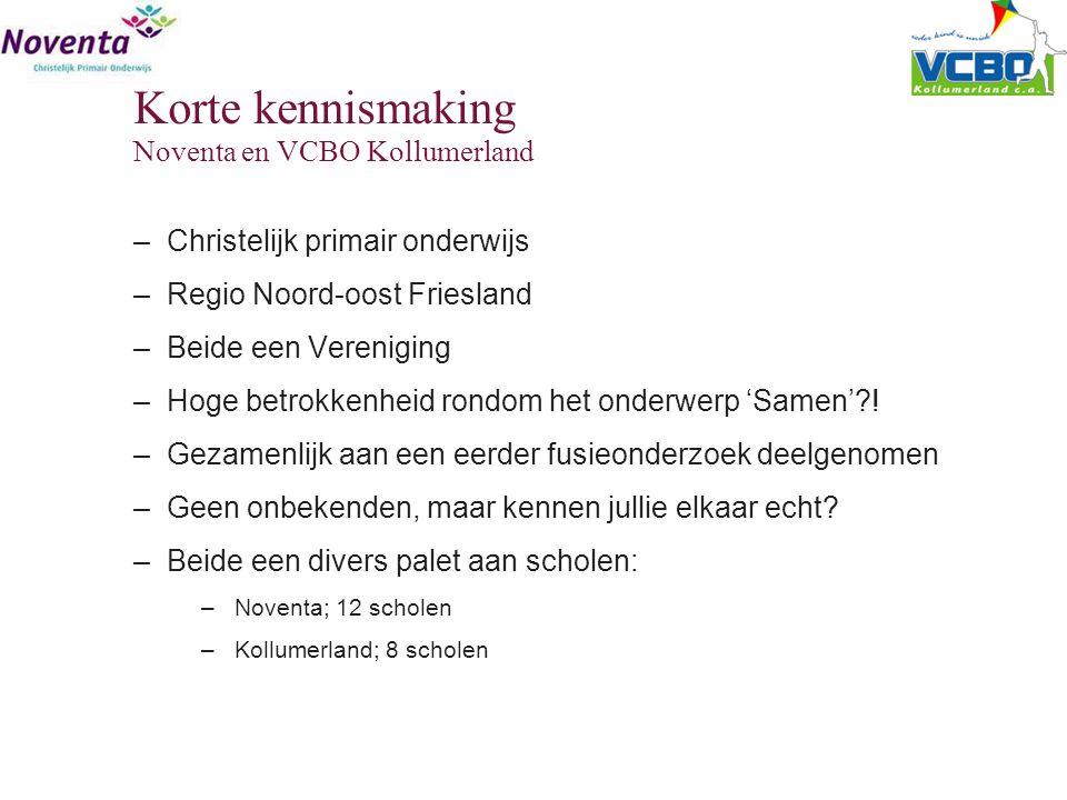 Korte kennismaking Noventa en VCBO Kollumerland