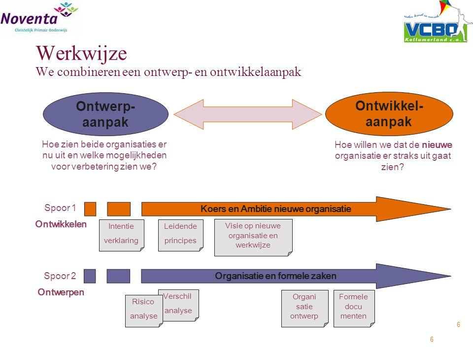Werkwijze We combineren een ontwerp- en ontwikkelaanpak