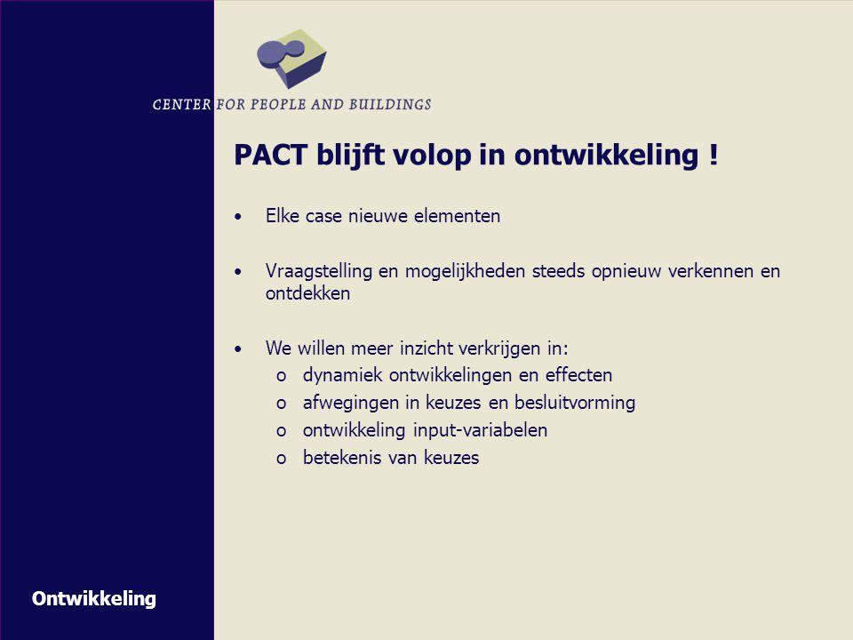 PACT blijft volop in ontwikkeling !