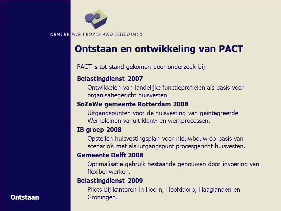 Ontstaan en ontwikkeling van PACT