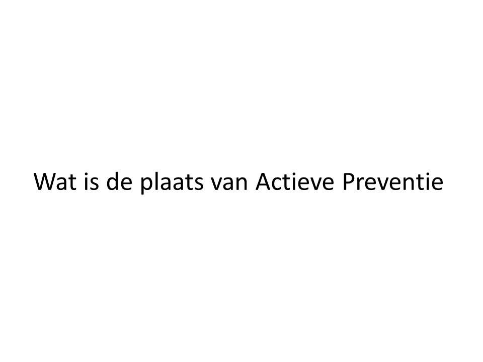 Wat is de plaats van Actieve Preventie