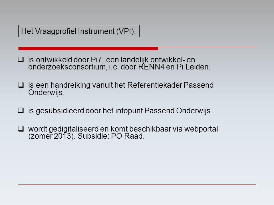 Het Vraagprofiel Instrument (VPI):