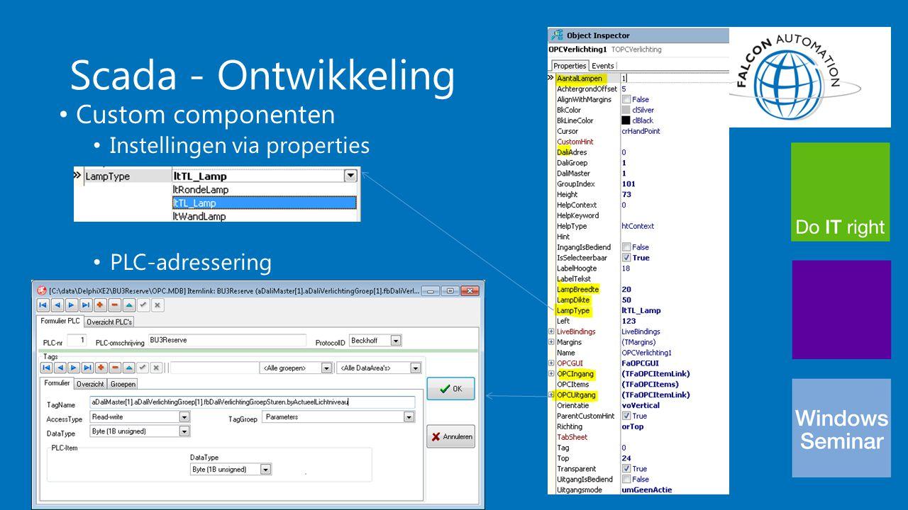 Scada - Ontwikkeling Custom componenten Instellingen via properties