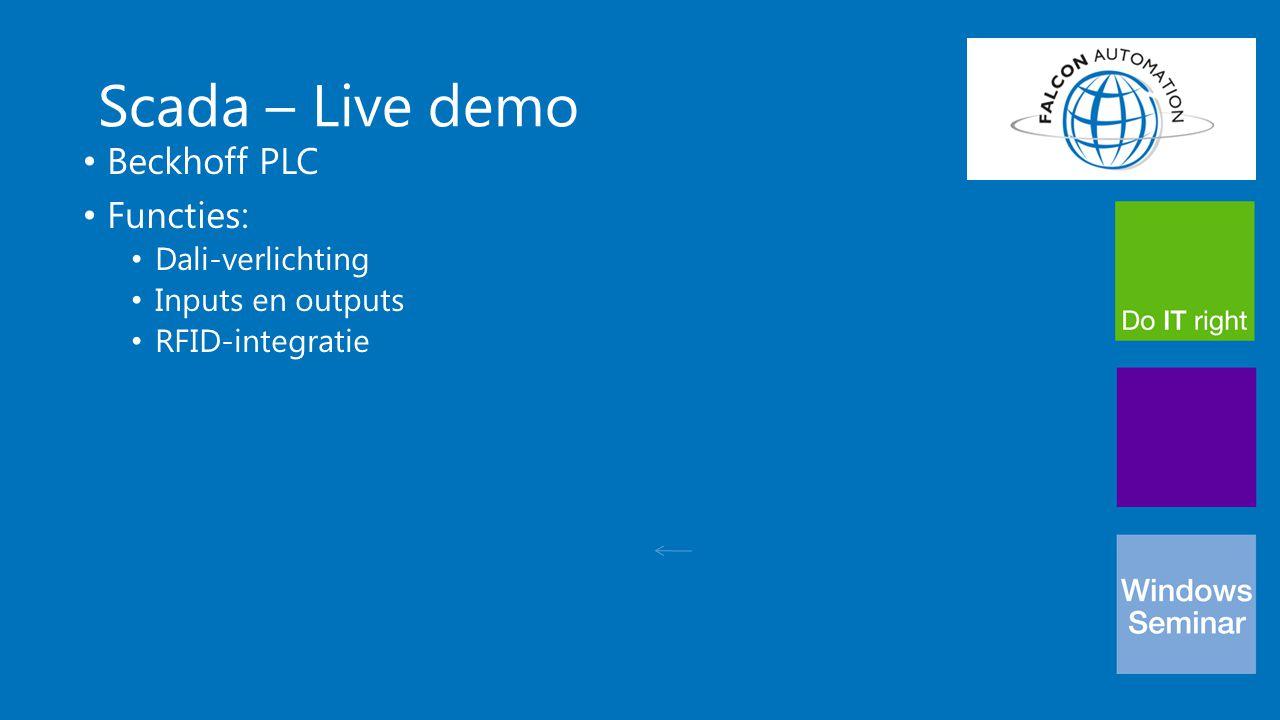 Scada – Live demo Beckhoff PLC Functies: Dali-verlichting
