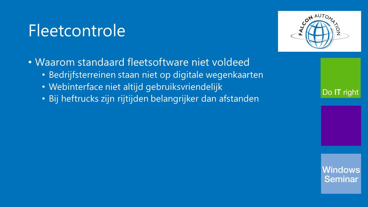 Fleetcontrole Waarom standaard fleetsoftware niet voldeed