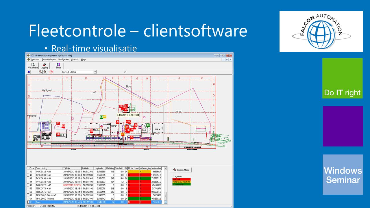 Fleetcontrole – clientsoftware