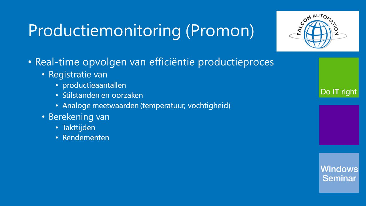 Productiemonitoring (Promon)